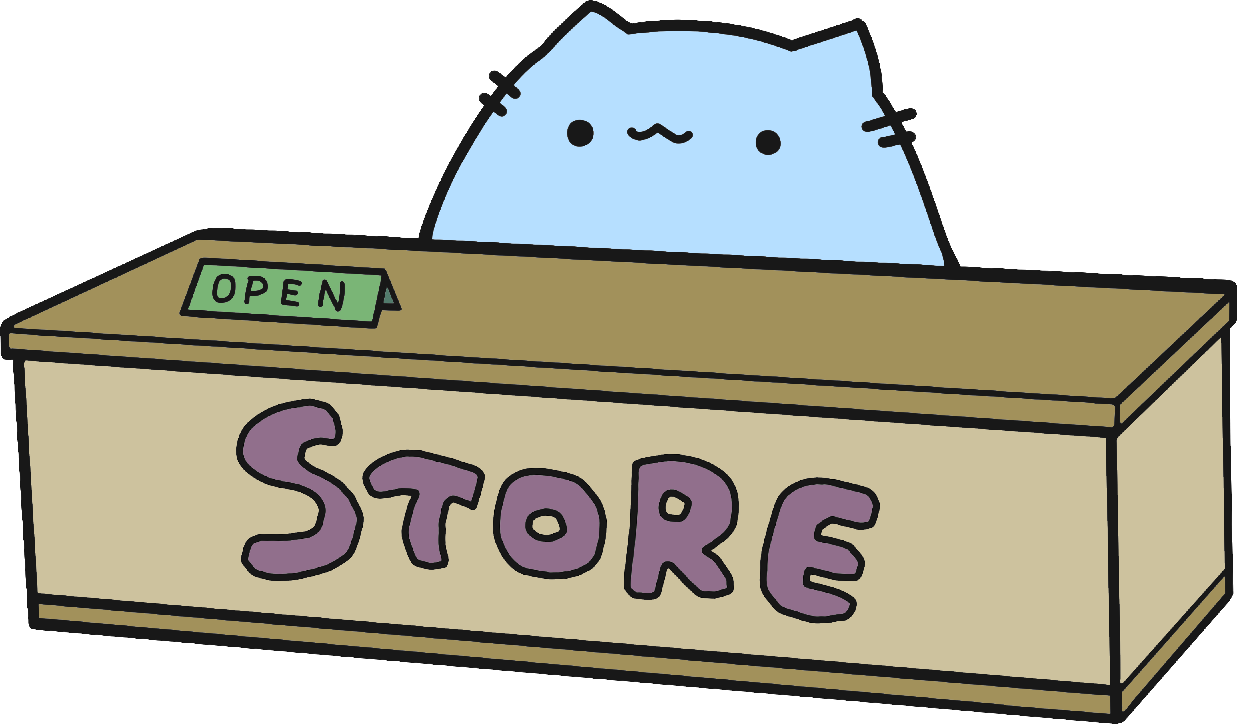 sleeping cat for store